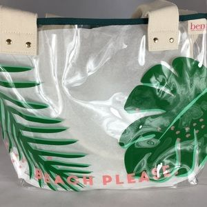 Benefit beach summer transparent tote bag